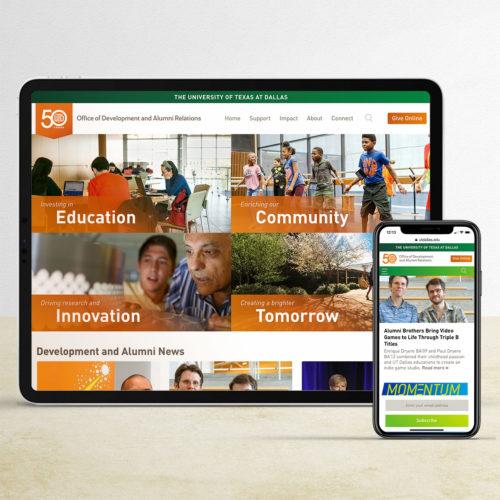 UTD giving website