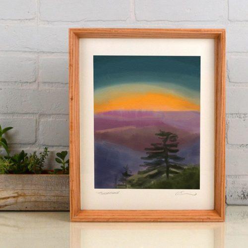 digital watercolor fine art print